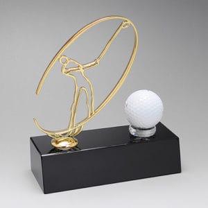 Crystal Trophies ALCR0079 – Crystal Base Golf Award