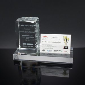 Customized Gifts ALGC0035 – Crystal Card Holder