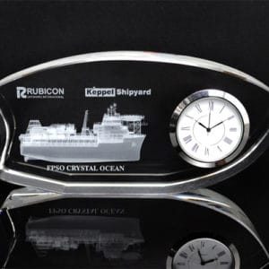 Customized Gifts ALGC0026 – Crystal Desktop Clock